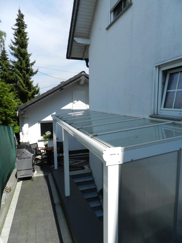 Kellertreppenüberdachungung Glas