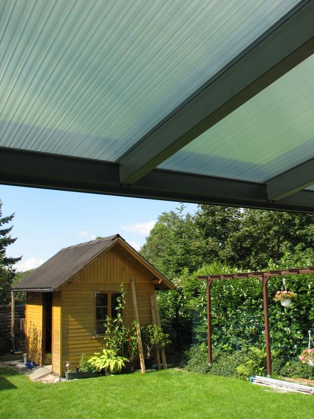Terrassendach mit Polycarbonat Stegplatten