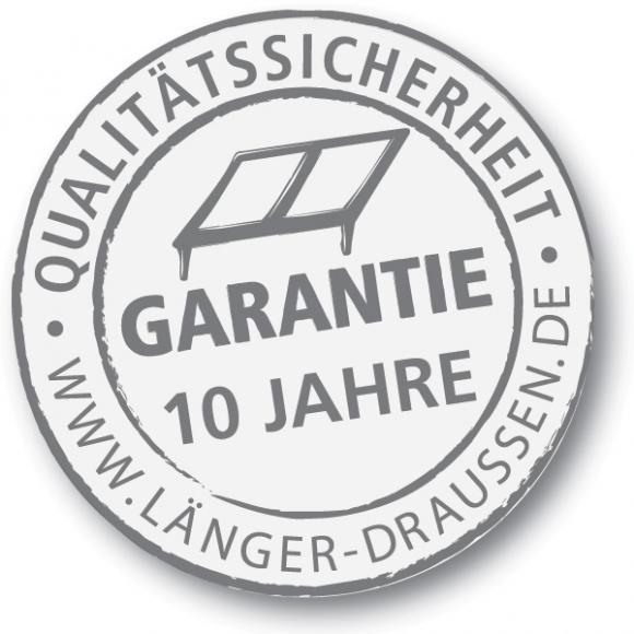Terrassendach Garantie
