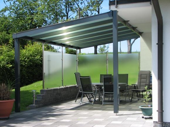 terrassendach glas aluminium, lÄnger-draussen - terrassendächer, Design ideen